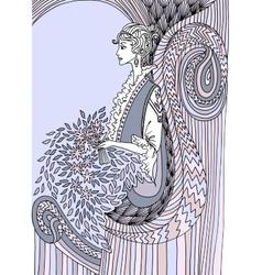 Pastel Beautiful fashion woman Retro style vector image