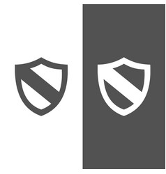 protection shield icon on black and white vector image vector image