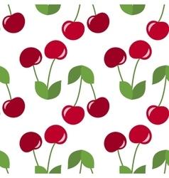 Red cherries seamless vector