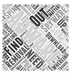 Removal adware spyware word cloud concept vector