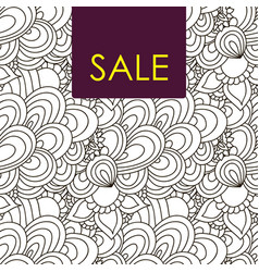 sale card doodle pattern vector image