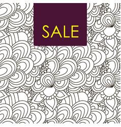 sale card doodle pattern vector image vector image