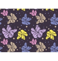 Seamless pattern with cute colorful orchids vector