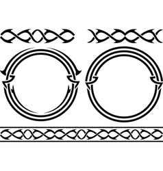 Set of patterns and rings stencils vector