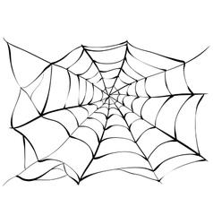 Spiderweb big black spider web vector