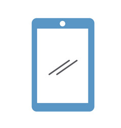 tablet device isolated icon vector image vector image
