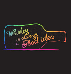 Whiskey lettering art vector
