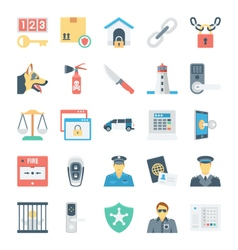 Crime and security icons 5 vector