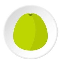 Avocado icon flat style vector