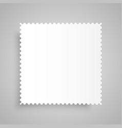 Paper Banner  Mockup Postage Stamp vector image
