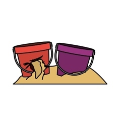Isolated toy sand bucket design vector