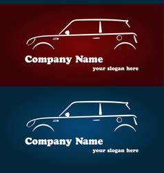 car company logotype templates vector image