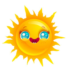Funny sun with smile vector