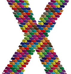 3d font letter X vector image