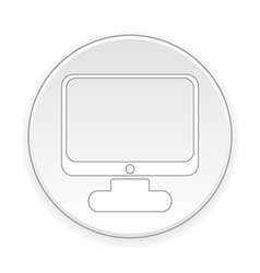 Computer button vector