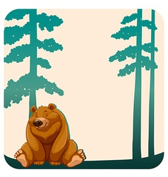 Bear and trees vector image