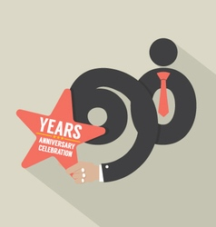 60 years anniversary typography design illu vector
