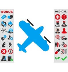 Screw aeroplane icon vector