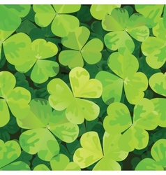 seamless pattern with clover leaves vector image