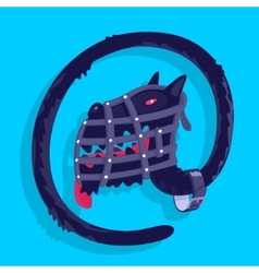 Symbol dog postal vector