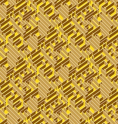 Golden labyrinth background vector