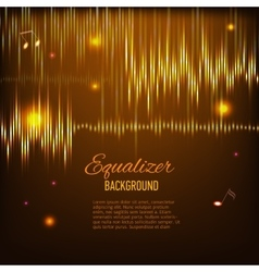 Musical background with key notes and equalizer vector