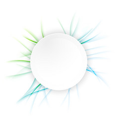 Abstract futuristic circle banner layout vector