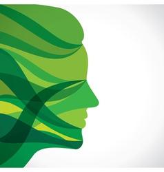 abstract green women face vector image vector image