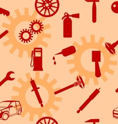auto car repair service icon symbols vector image vector image