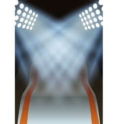 Background for posters night winter game stadium vector