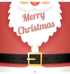 Beard text santa claus belt greating card template vector