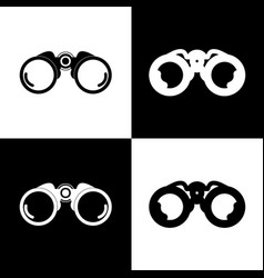 binocular sign black and vector image