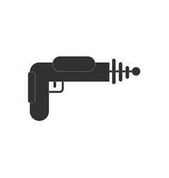 Black icon on white background toy gun vector