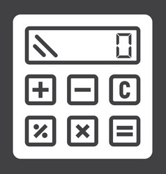 Calculate solid icon business and calculator vector