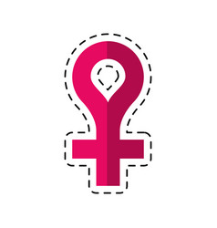 cartoon female gender symbol icon vector image