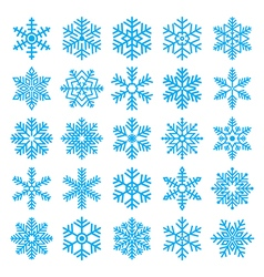 Chirstmas snowflakes set vector