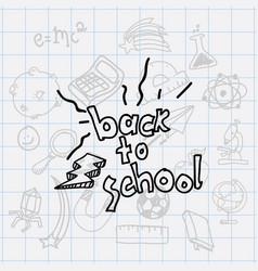 Class and school scribbles vector