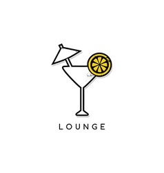 cocktail glass lounge bar vector image