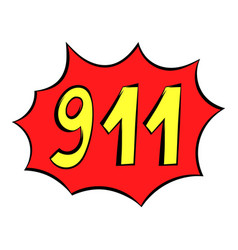 Emergency 911 icon icon cartoon vector