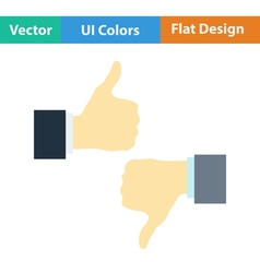 Flat design icon of like and dislike vector