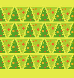 flat of fir tree decorated for vector image vector image