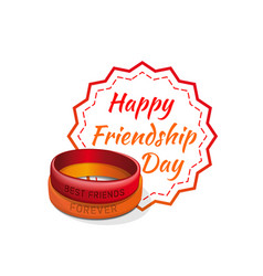 friendship day lettering card typographic design vector image vector image