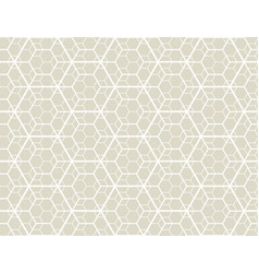 geometry line hexagonal seamless pattern vector image vector image