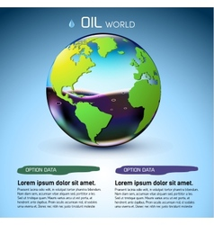 glasses world oil stock background concept vector image