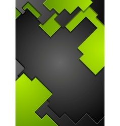 Green black contrast technology background vector