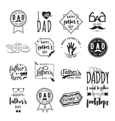 Happy fathers day wishes overlays lettering vector image