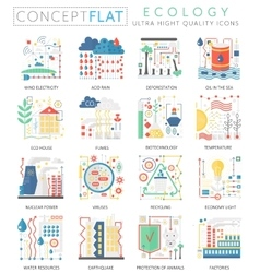 Infographics mini concept green Ecology icons for vector image vector image