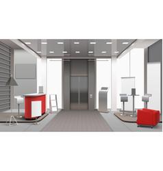 Lobby interior realistic design vector