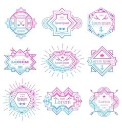Modern hipster logo set vector image vector image