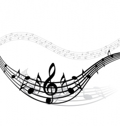 musical notes vector image